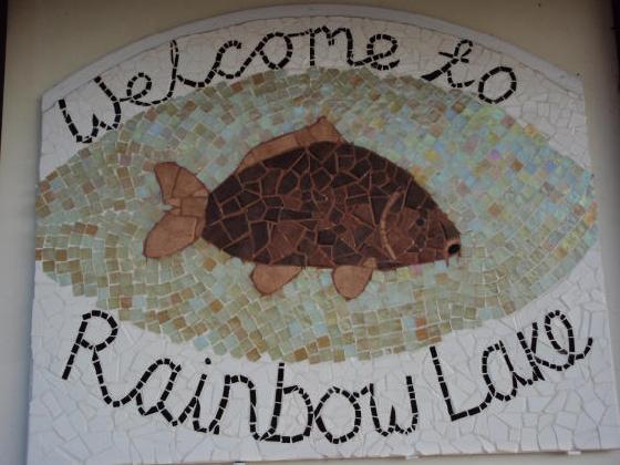 Mosaik an der Lodge