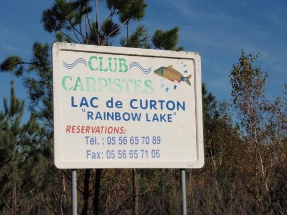 Schild zum Lac de Curton